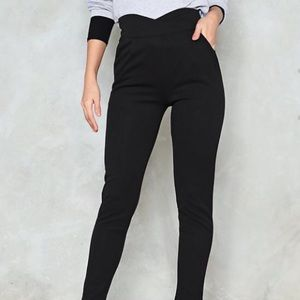 Nasty Gal Fitted High Waisted Black Pant NWT